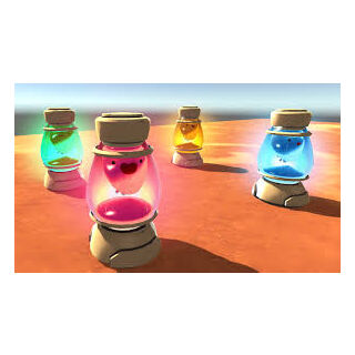 Pre-release teasers of the Slime Lamps.  From left to right: <a href=