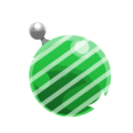 Green Stripey Ornament