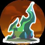 Fiery Glass Sculpture