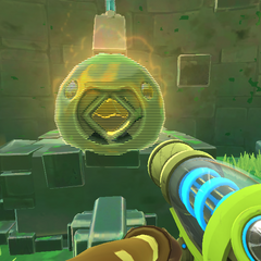 Quantum Slime Statue at the Ruins-Glass Desert Teleporter