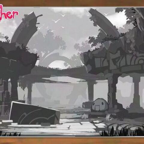 Concepto de las ruinas