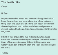 The Death Hike