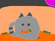 Tabby Slime with a carrot