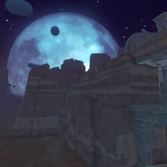 A view of the moon in The Glass Desert.