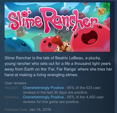 Slime Rancher Development Reviews