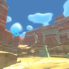 A desert cliff.