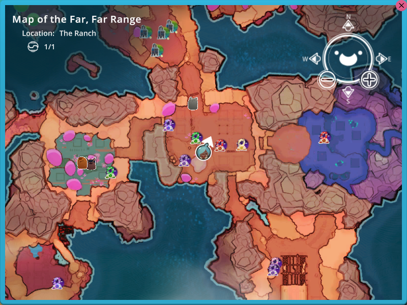 World map slime rancher wikia fandom powered by wikia a portion of the map with some icons tracking teleporters some extractors and gordos gumiabroncs Images