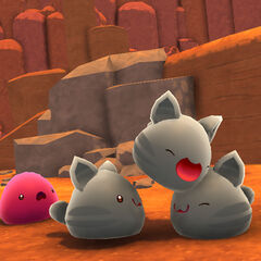 Early image of Tabbies with a Pink Slime.