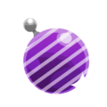 Purple Stripey Ornament