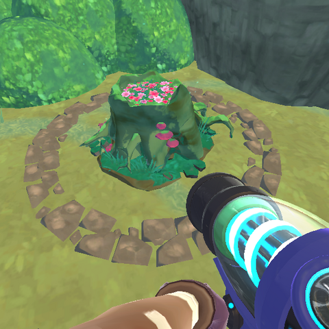In-game render of the Mossy Tree Stump.