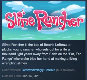 Slime Rancher development SR is over