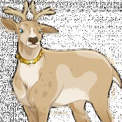 Dziewczyna dla Rudolfa w złotej obroży