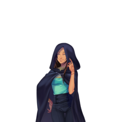 Priya w pelerynie Ivana