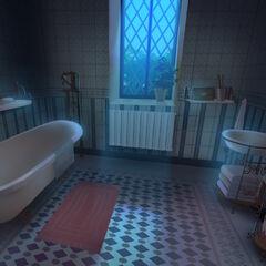 Łazienka w nocy