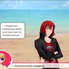 Patrzcie jak Kastiel na plaży szybko zdążył się przebrać... o.O