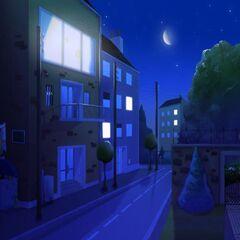 Przed mieszkaniem w nocy