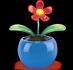 Plastikowy kwiatek