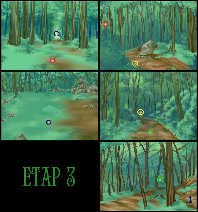 Bieg na orient. etap 3 mapka