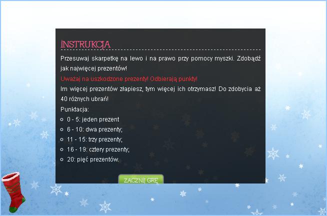 Gwiazdka 2011 mini-gra