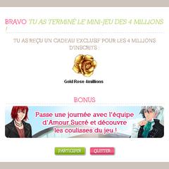 Po zdobyciu złotej muffiny sprezentują ci złotą różę, a francuskie userki dostają możliwość <a rel=