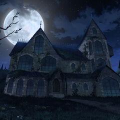 Dwór w nocy