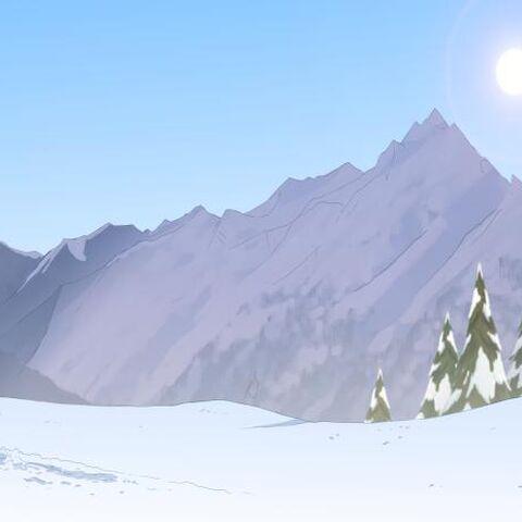 Śnieg koło reniferów
