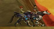 Eli i Trixie na swoich mecha-bestiach