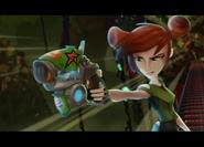 Trixie z pajęczakiem w blasterze