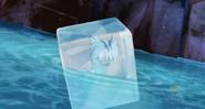 Zamrożony Mrozik w wodzie
