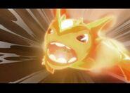 Welosimorf atakuje ogniem
