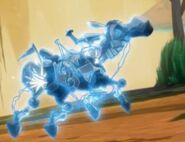 Porażona mecha-bestia
