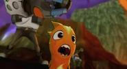 Przerażony Burp