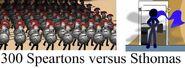 300 speartons versus Sthomas