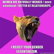 Gender essentialism