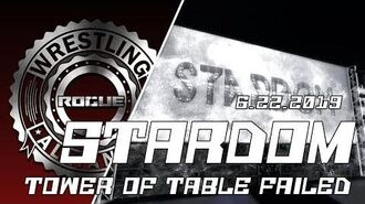 Second Life Wrestling (6.22.2019) RWA STARDOM (Tower Of Tables Failed) 💔