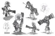Snow monkey sketches2 paulsullivan