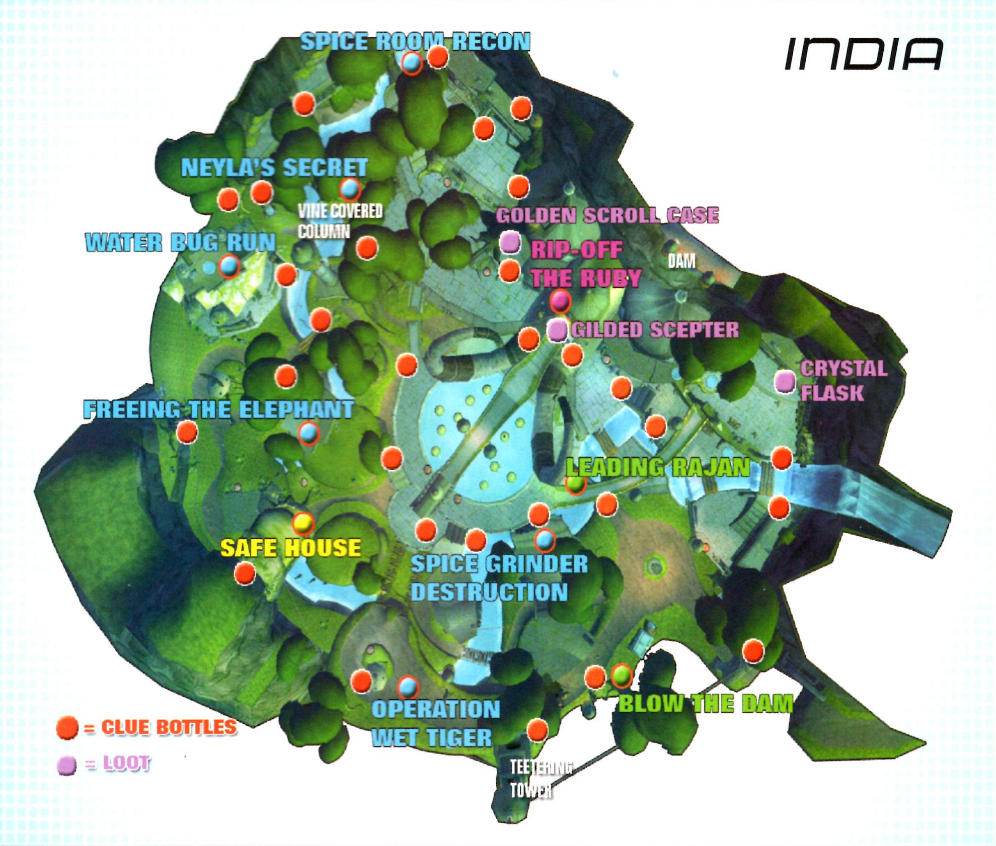 Image India2map Png Sly Cooper Wiki Fandom Powered