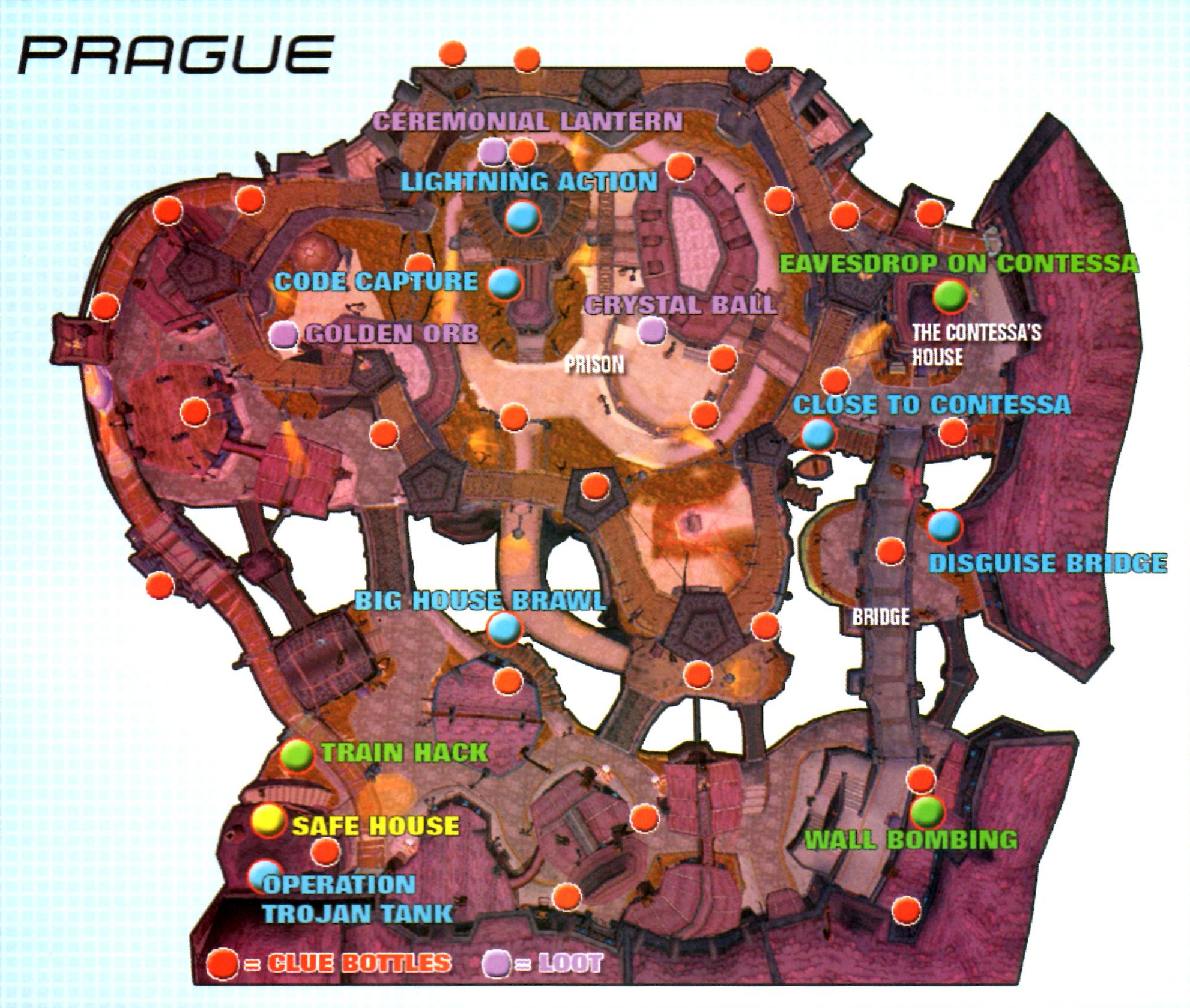 Image Prague1map Png Sly Cooper Wiki Fandom Powered