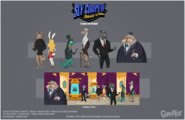 Sly 4 party guests by tigerhawk01-d6h9guk