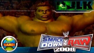 The Incredible Hulk Smackdown vs Raw WWE 2008