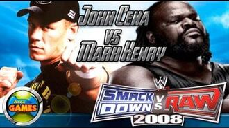 John Cena vs Mark Henry PCSX2 1.0.0 Smackdown Vs. Raw 2008 PS2