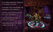 Dimensional Temple mission screen