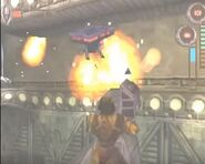 Sentry battling Archer in Space Ship Level (2)