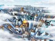 Metropolis-skyline