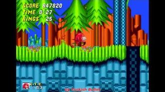 Knuckles The Echidna in Sonic The Hedgehog 2 (Sega Mega Drive Genesis) - (Longplay)