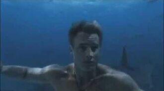 Aquaman swimming scene