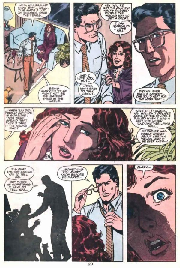 Clark tells lois his secret