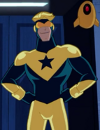 Booster Gold and Skeets (Justice League Action)