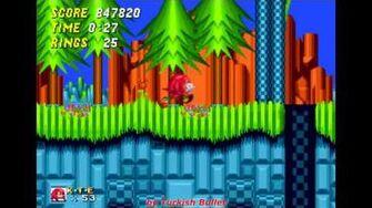 Knuckles The Echidna in Sonic The Hedgehog 2 (Sega Mega Drive Genesis) - (Longplay)-0