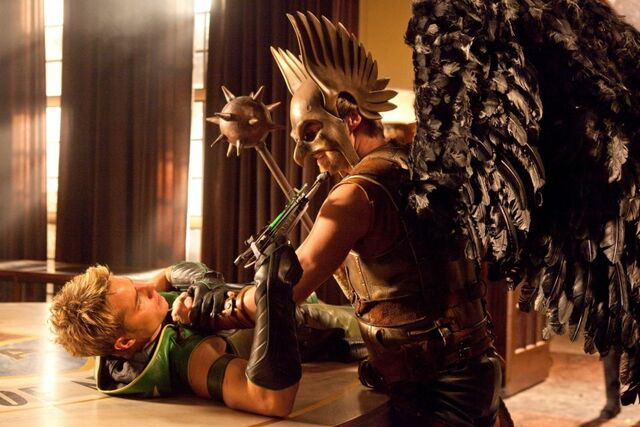 image green arrow sv tv s09 green arrow vs hawkmanjpg